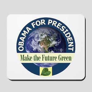 Obama Earth Blue Rim Mousepad