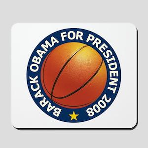 Obama Basketball Blue Mousepad