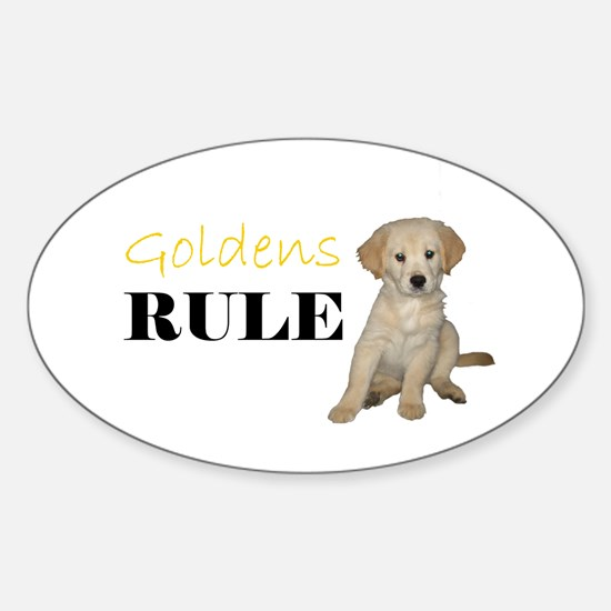 Goldens Rule Oval Decal