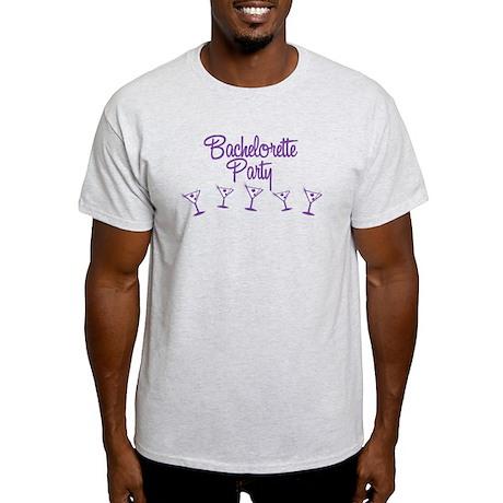 Purple Multi Bachelorette Party Light T-Shirt