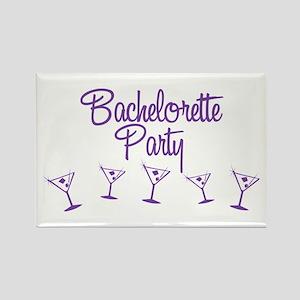 Purple Multi Bachelorette Party Rectangle Magnet