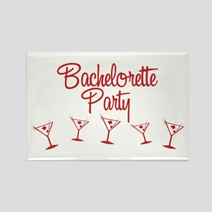 Red Multi Bachelorette Party Rectangle Magnet