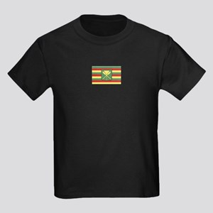 Kanaka Maoli Flag Kids Dark T-Shirt