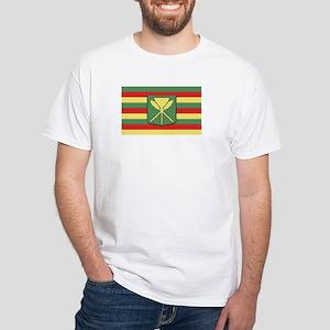 Kanaka Maoli Flag White T-Shirt