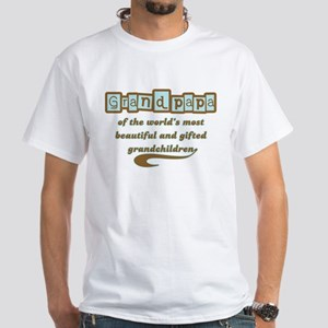 Grandpapa of Gifted Grandchildren White T-Shirt
