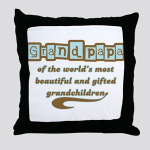 Grandpapa of Gifted Grandchildren Throw Pillow