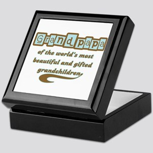 Grandpapa of Gifted Grandchildren Keepsake Box