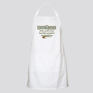 Grandpapa of Gifted Grandchildren BBQ Apron