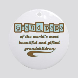 Grandpapa of Gifted Grandchildren Ornament (Round)
