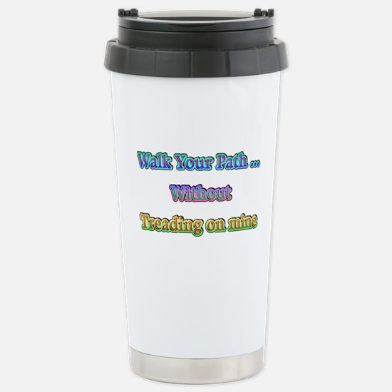 Walk Path Pastel Stainless Steel Travel Mug