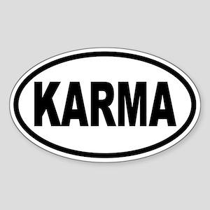 KARMA Oval Oval Sticker