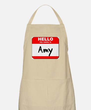 Hello my name is Amy BBQ Apron