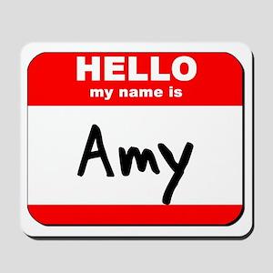 Hello my name is Amy Mousepad