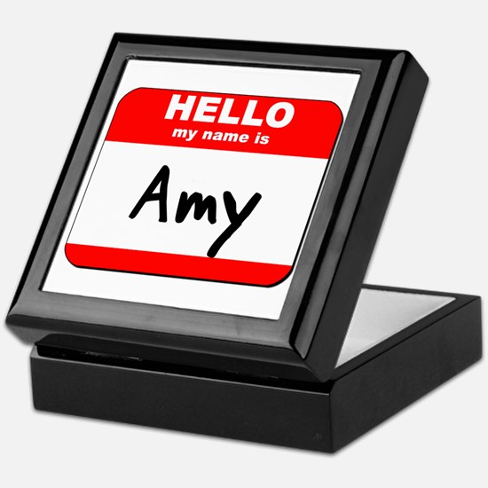 Hello my name is Amy Keepsake Box