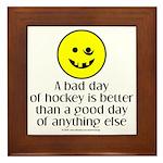 A bad day of hockey... Framed Tile