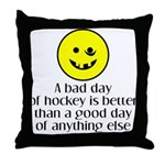 A bad day of hockey... Throw Pillow