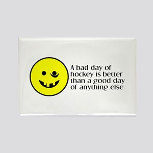 A bad day of hockey... Rectangle Magnet