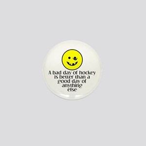 A bad day of hockey... Mini Button