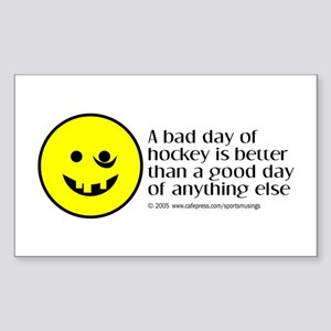 A bad day of hockey... Rectangle Sticker
