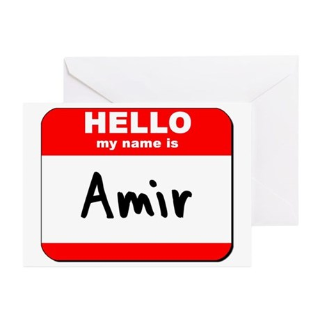 Hello my name is Amir Greeting Cards (Pk of 20)