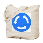 Roundabout Sign - Tote Bag