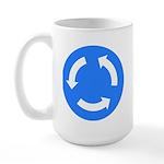 Traffic Circle Sign - Large Mug