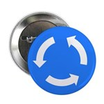 "Roundabout Sign - 2.25"" Button (10 pack)"