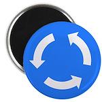Traffic Circle Sign - Magnet