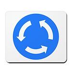 Traffic Circle Sign - Mousepad