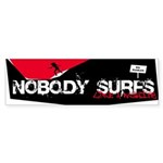 Nobody Surfs Like a Wahine Bumper Sticker (10 pk)