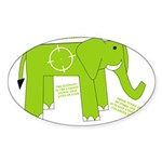 Elephant Facts Oval Sticker (10 pk)