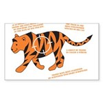 Tiger Facts Rectangle Sticker 10 pk)