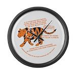 Tiger Facts Large Wall Clock