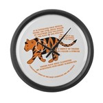 Tiger Facts Large Wall Clock