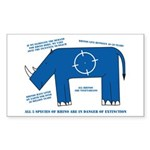 Rhino Facts Rectangle Sticker 50 pk)