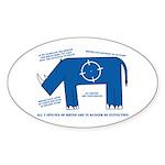 Rhino Facts Oval Sticker (10 pk)