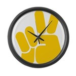Peace It Out! Large Wall Clock