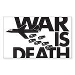 War is Death Rectangle Sticker 50 pk)