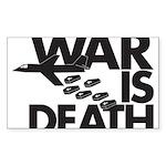 War is Death Rectangle Sticker 10 pk)