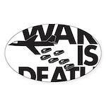 War is Death Oval Sticker (50 pk)