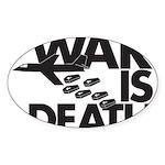 War is Death Oval Sticker (10 pk)