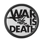 War is Death Large Wall Clock