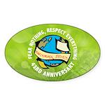 Earth Day Sticker (Oval 50 pk)