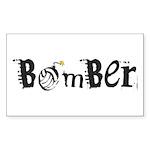 Bomber Rectangle Sticker 50 pk)