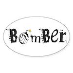 Bomber Oval Sticker (10 pk)