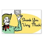 Shank You Very Much! Rectangle Sticker 50 pk)