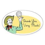Shank You Very Much! Sticker (Oval 50 pk)