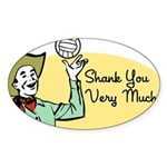 Shank You Very Much! Oval Sticker (10 pk)