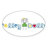 Volley Dolly Oval Sticker (50 pk)