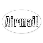 Airmail Sticker (Oval 50 pk)